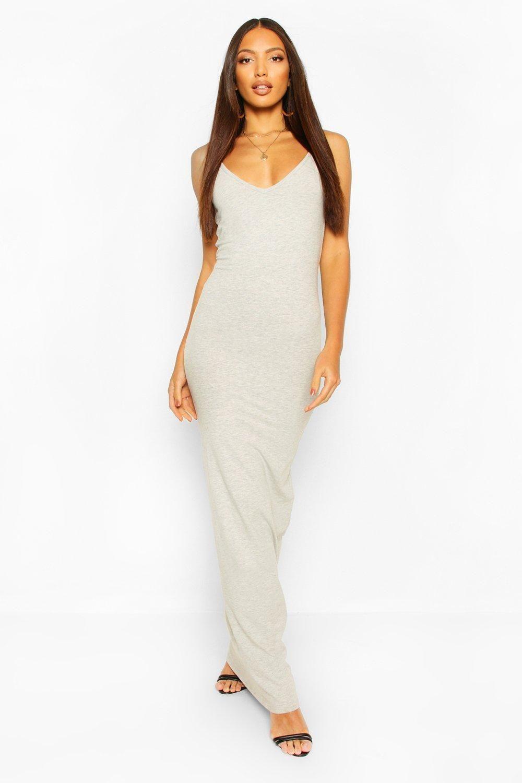 Basic Strappy Maxi Dress Boohoo Grey Maxi Dress Latest Maxi Dresses Maxi Dress [ 1500 x 1000 Pixel ]