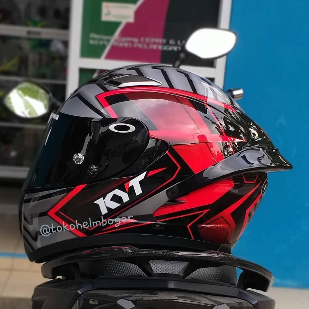Toko Helm Bogor Di Instagram Kyt Falcon Armour Red Flo Flat Visor Dark Smoke Spoi In 2020 Motorcycle Helmet Design Cool Motorcycle Helmets Custom Bike Helmets
