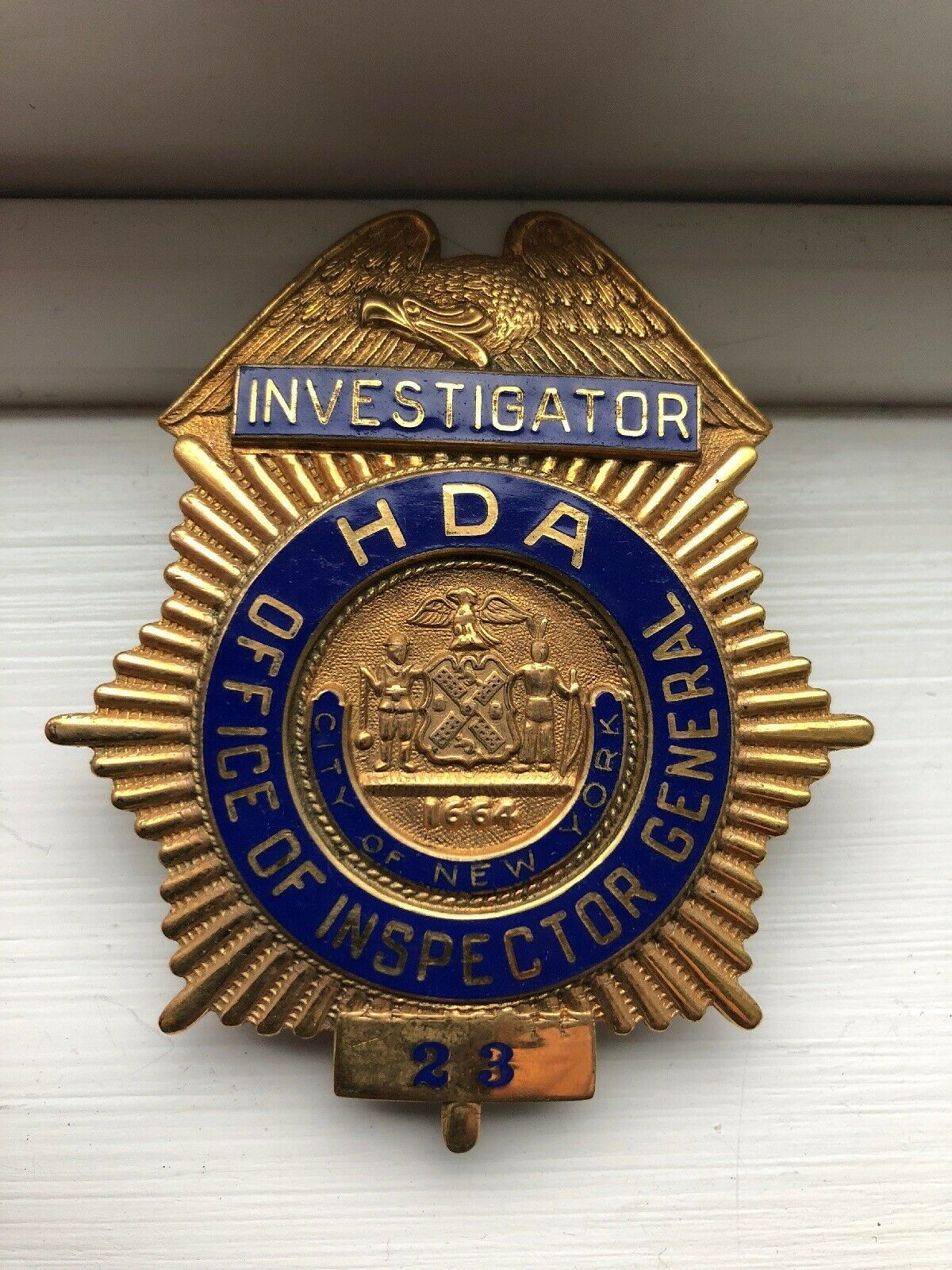 Investigator, Office of Inspector General, City Of New