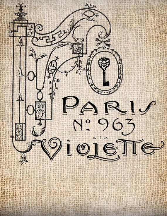 French Script Transfers | Antique French Paris Perfume Shoppe Sign Fancy Ornate Illustration ...