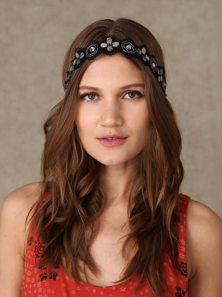 Shell & Crochet Headband- 32 Crochet Headband Design & Ideas   DIY to Make