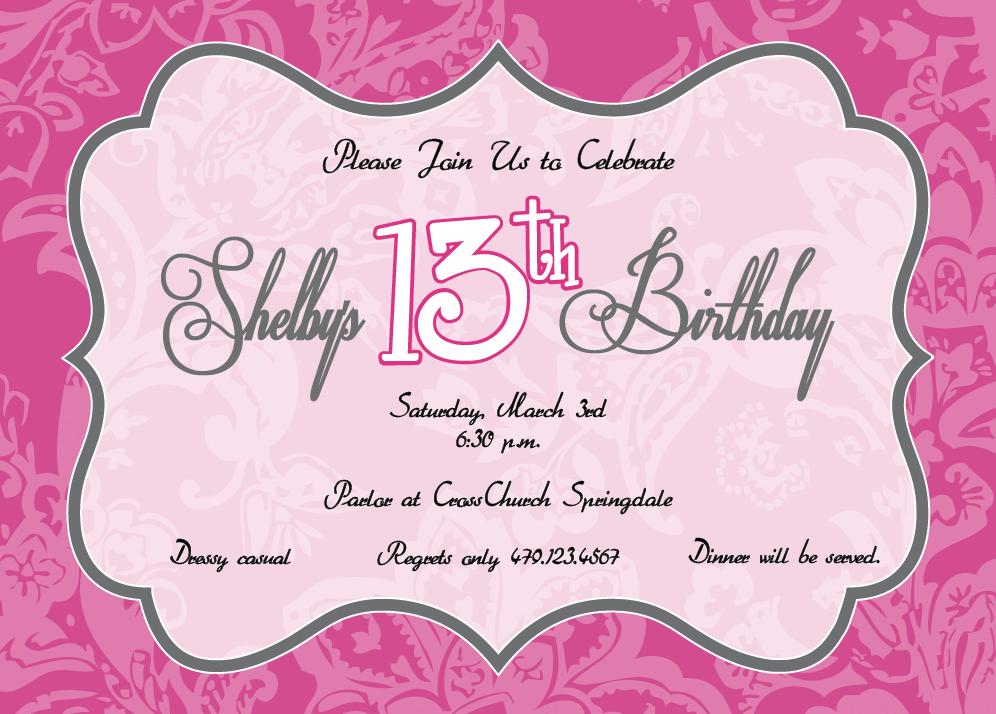 13th-birthday-invitation-templates-hlwpgvia.png (996×714) | Katelynn ...