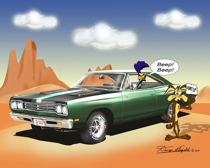 ROADRUNNER & Wiley Coyote BEEP BEEP! Available at: http://www.dannywhitfield.com/gallery.html