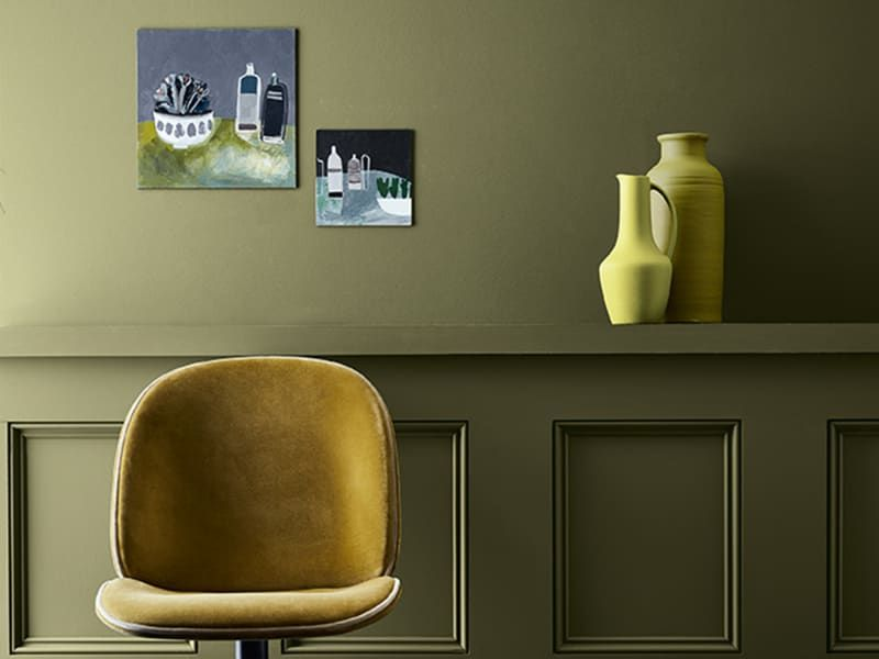 24 Wandfarbe Gelb Wohnzimmer