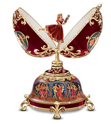 Russian Nutcracker Collectible Musical Egg:: by Ardleigh Elliott. Nutcracker Music Box ~ Fabergè Egg-Style ~ Clara Holding Her Nutcracker.