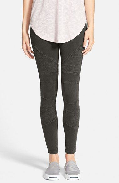 14502949f9cab7 Kind of interested in trying a moto pant in grey/green/purple/black. BP.  Moto Washed Leggings available at #Nordstrom