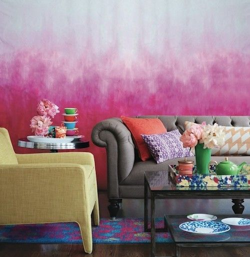 Pink ombre walls | Wall Ideas | Pinterest | Walls, Wall ideas and ...