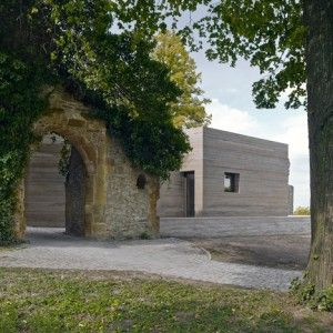 Sparrenberg Castle Visitor Centre By Max Dudler Boasts Striated Concrete Walls Architecture Concrete Wall Amazing Architecture