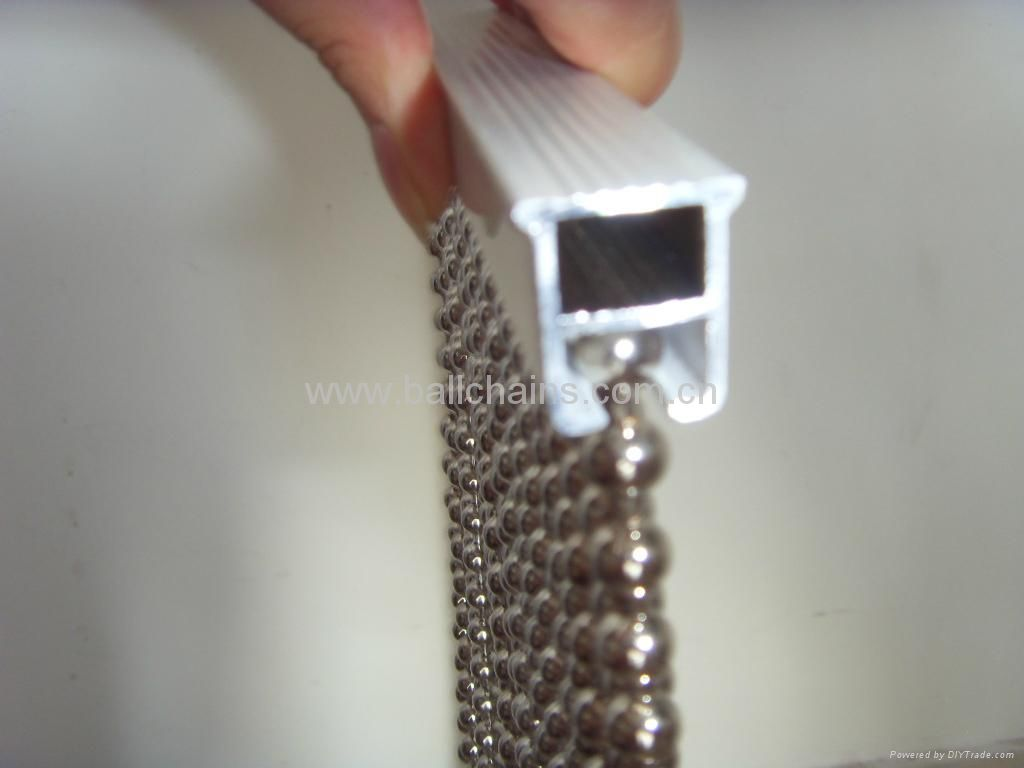 Ball Chain Curtain Track Shimmer Screen Beaded
