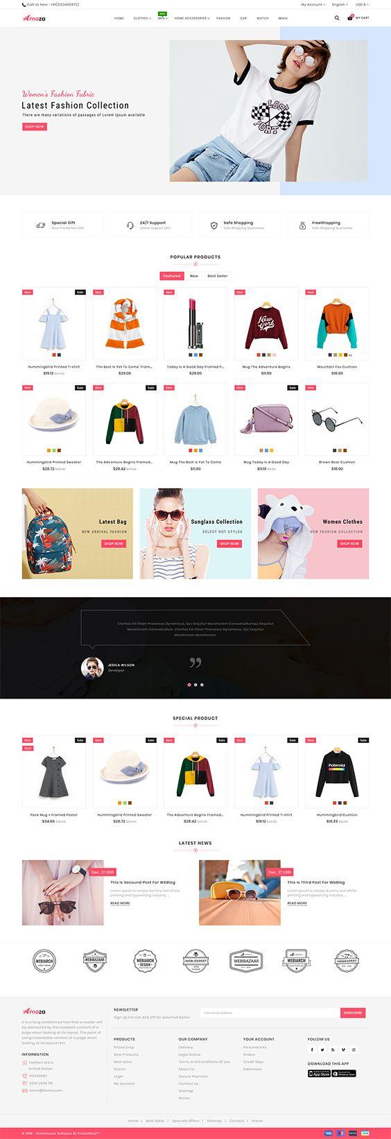 Amoza amoza - the fashion store template | e-commer website | shoe