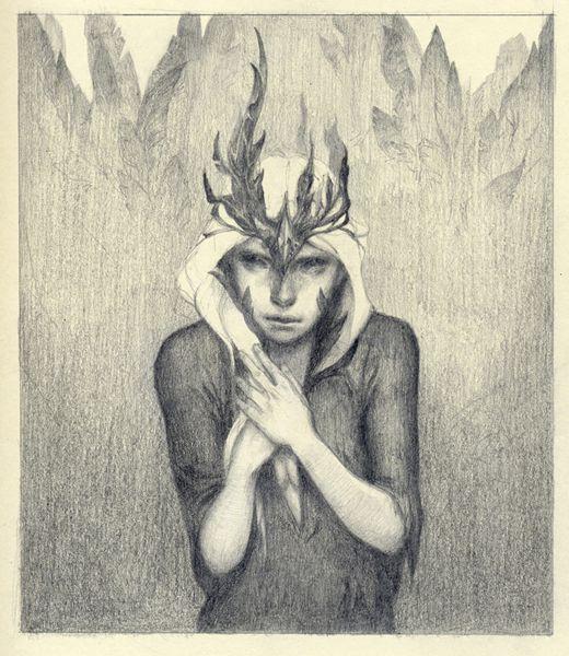 chrystalchan:  Drawing for fun, I'd like to call her Black Bird hehe.