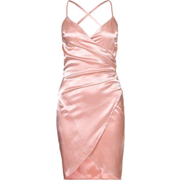Pink Satin Cocktail Dresses
