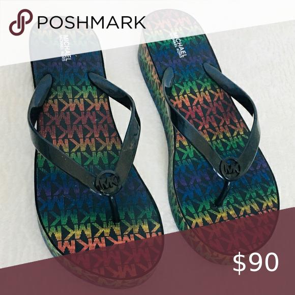 Rainbow sandals, Michael kors