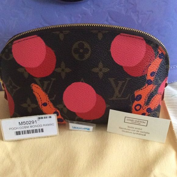 Ramages Pouch Spring 2015 Collection. 2 tiny scuffs on edges. Date code SR0195 Louis Vuitton Other
