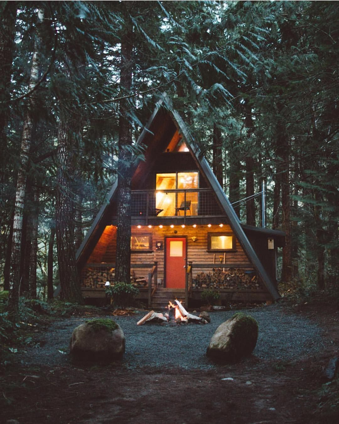 Tag the one you'd spend the weekend with in this cabin  By @nstonephoto