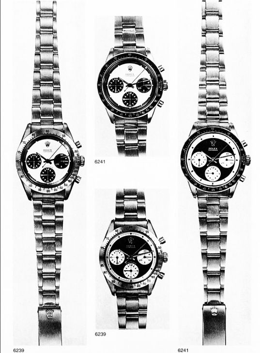 Rolex Cosmographs from circa 1960s brochure. #