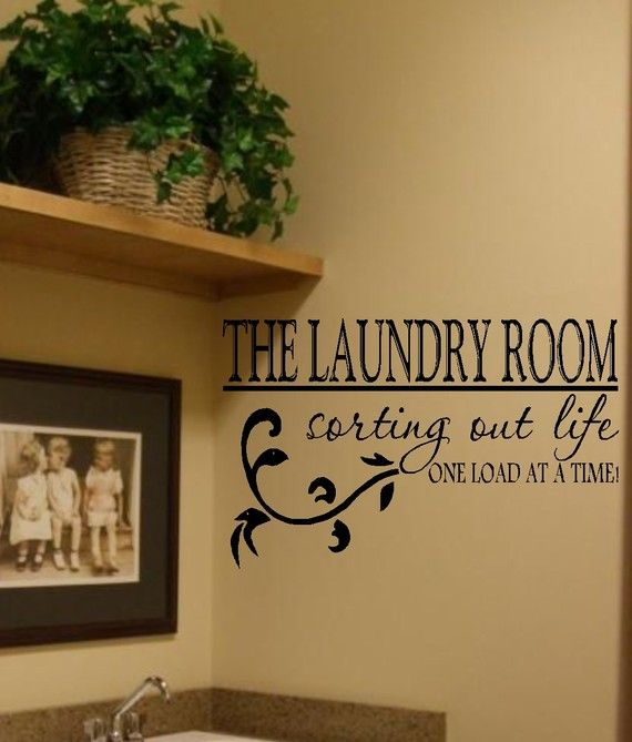 the laundry room vinyl wall decal decor lettering art- laundry room