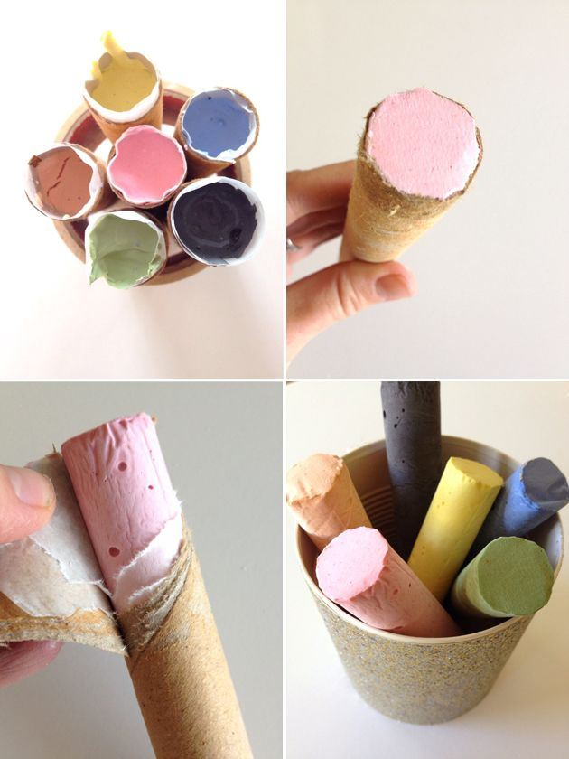 Sidewalk Chalk: Give these homemade chalks to a kid who loves hopscotch.  Source: Playful Learning