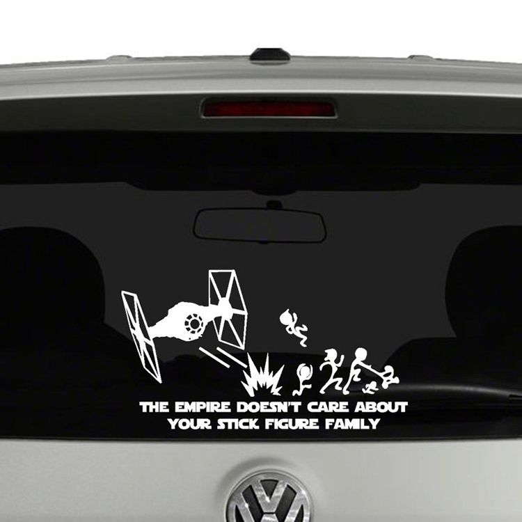 Vinyl Star Wars Car Decals Featuring TIE Fighters Blasting The - Vinyl decals car