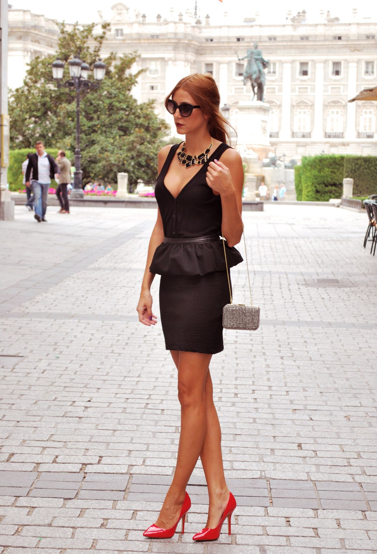 Black Peplum Peplum 2dayslook New Style Peplumdresses Www 2dayslook Com Fashion Top Fashion Bloggers Style [ 1892 x 1290 Pixel ]