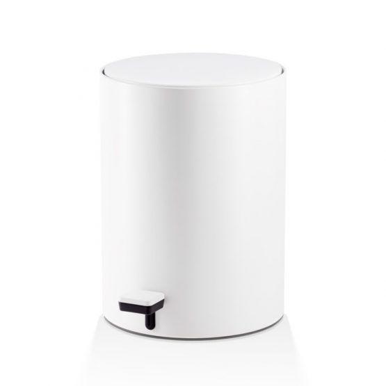 Pedal Bin Stainless Steel White Matte bathroomaccessories