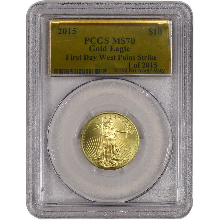 2015 1 4 Oz 10 American Gold Eagle Pcgs Ms 70 1 Of 2015 First Struck Gold Eagle Gold American Eagle Pcgs