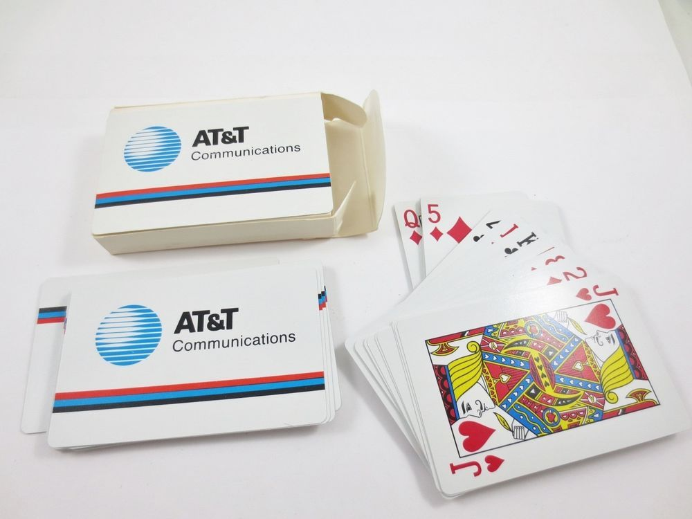 Vintage Rare AT&T Communications Playing Cards Set with Original Box