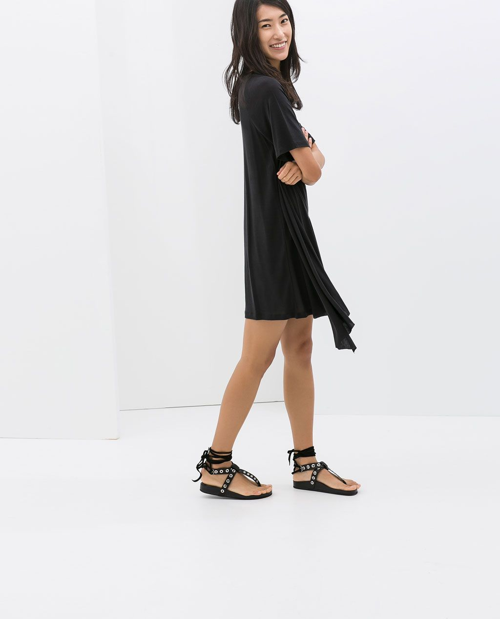 ZARA - NEW THIS WEEK - ASYMMETRIC HEM DRESS