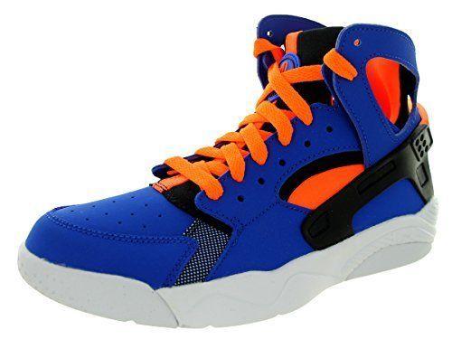 kids shoes Nike Air Flight Huarache (GS) Game Royal Orange Blck Wht Basketball  #Nike #basketball