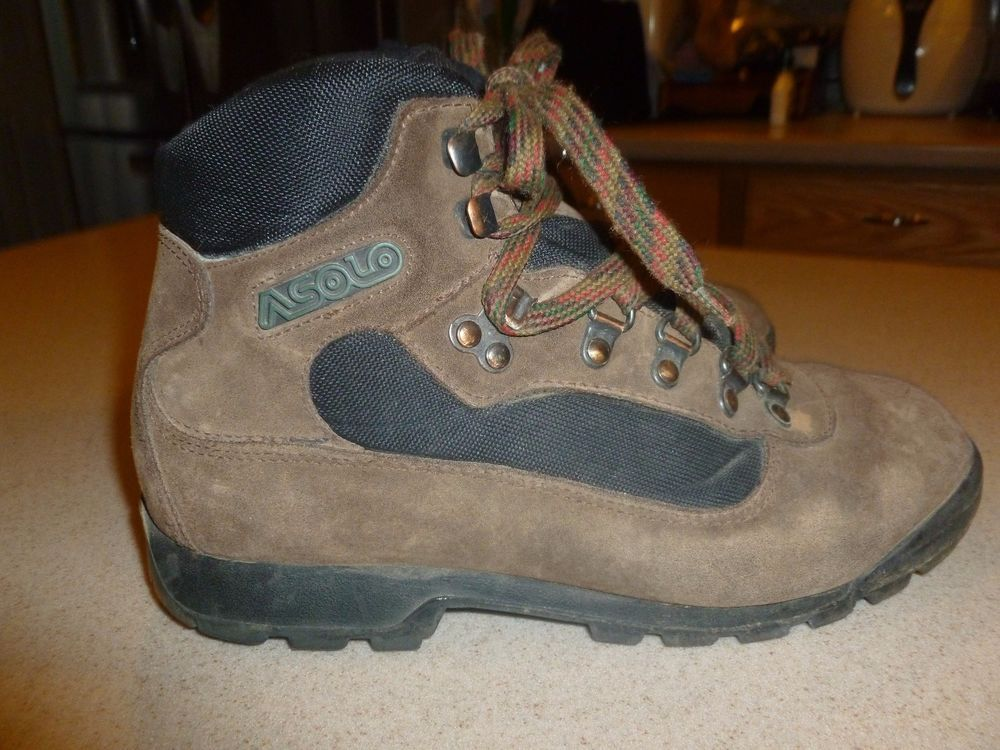 Asolo 5d Mens Hiking 7 Boots Waterproof Suede Leather Rugged Shoes QdtshrC