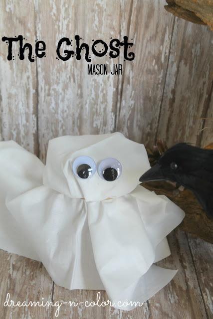 Ghost Mason Jar