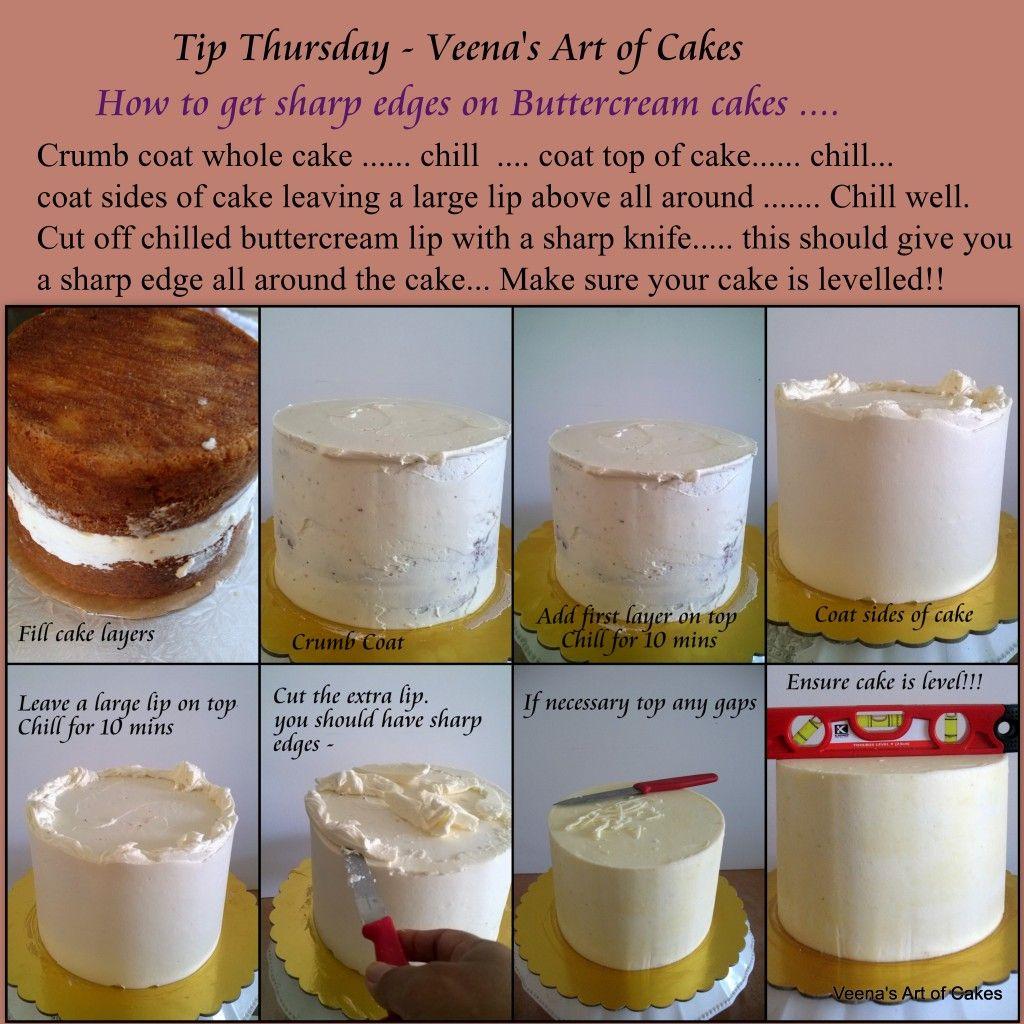 sharp edges on round cakes 1 1024x1024 tip thursday basic cake