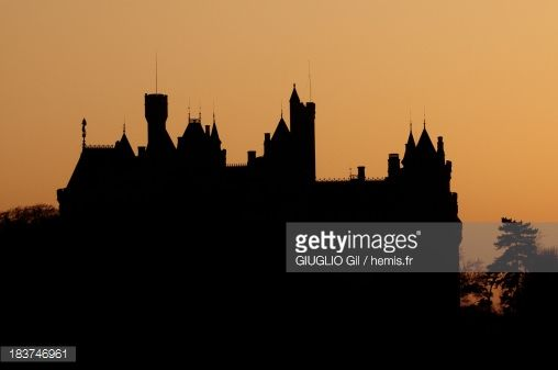 France, Oise, Pierrefonds, side view of the castle of Pierrefonds