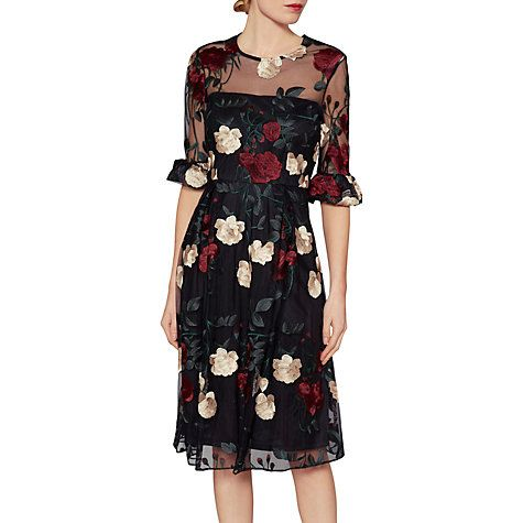Buy Gina Bacconi Celia Floral Embroidered Dress, Multi Online at  johnlewis.com | Modest Is Beautiful: Dresses | Pinterest | John lewis,  Floral and Delivery