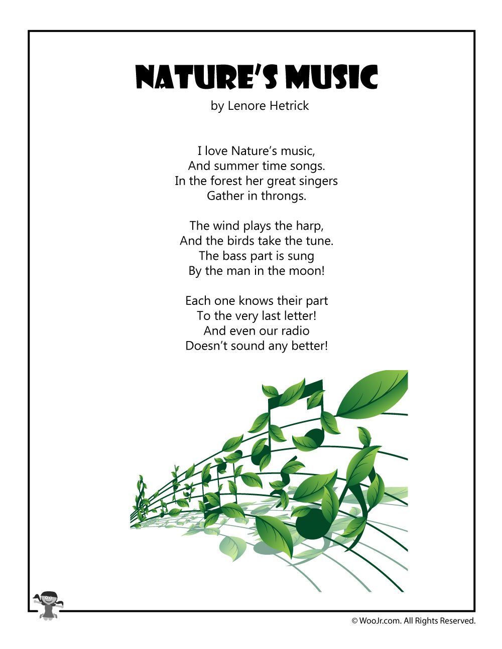 Poems Nature for children 2019
