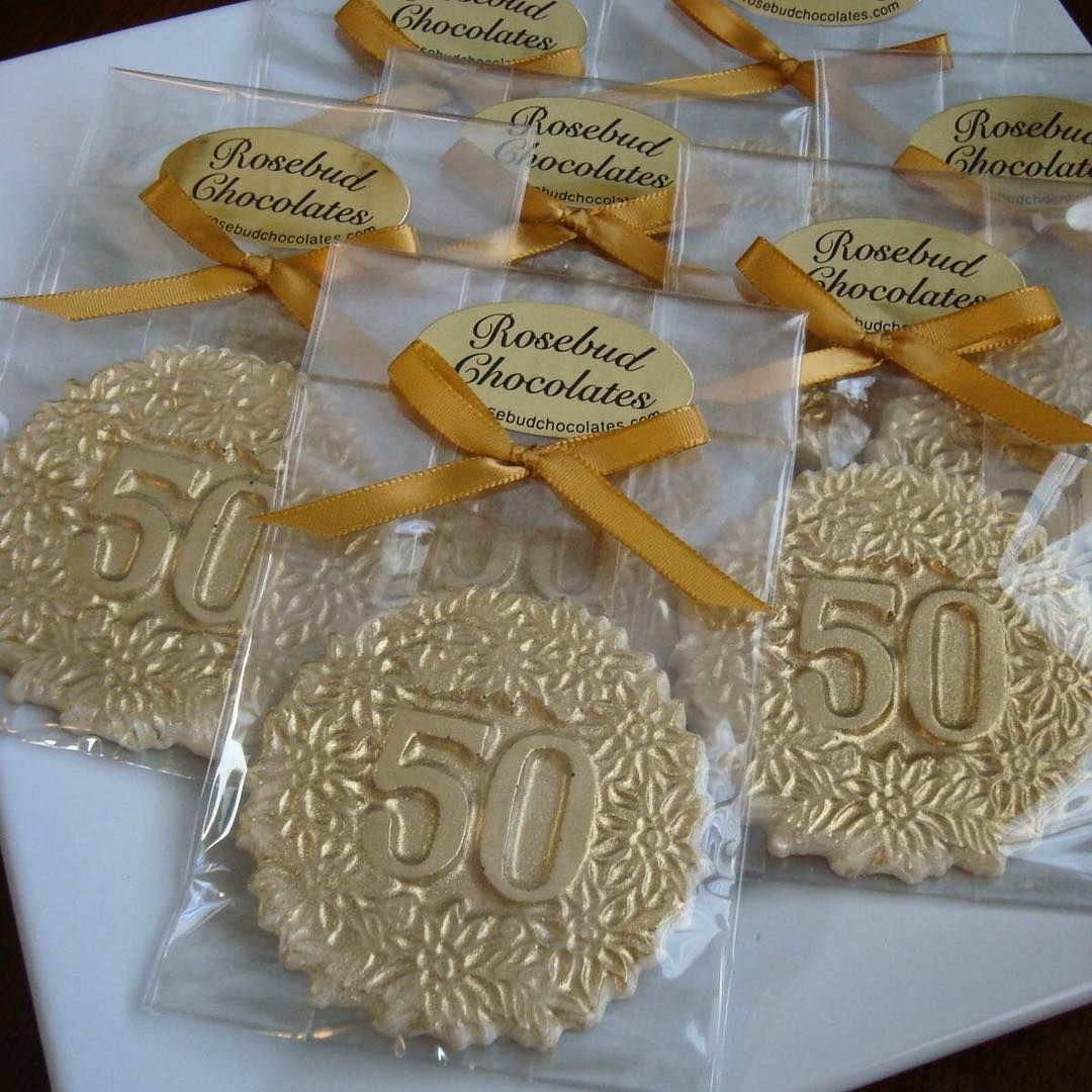 Golden 50th Anniversary Favors!!! White Chocolate with