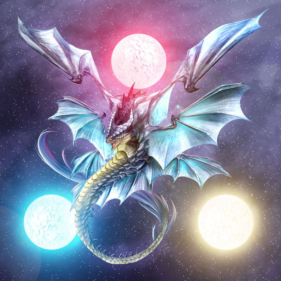 # Dragon # 3 moon #3moonDragon