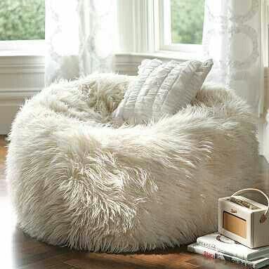 White Puff Chair Mod Wishes White Fluffy Chair Room