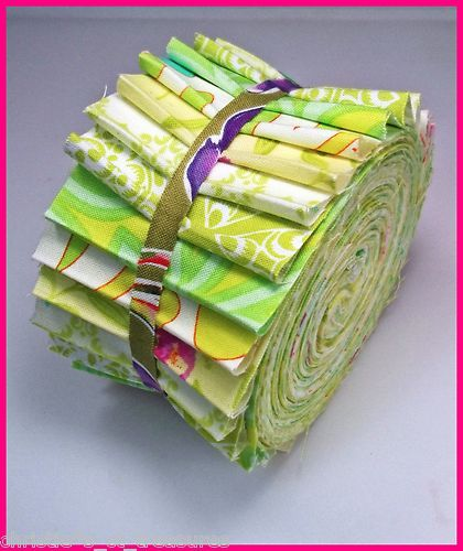 "2.5"" Spring Morning Jelly Roll 20 Fabric Strips Quilt Cotton Patchwork Quilting"