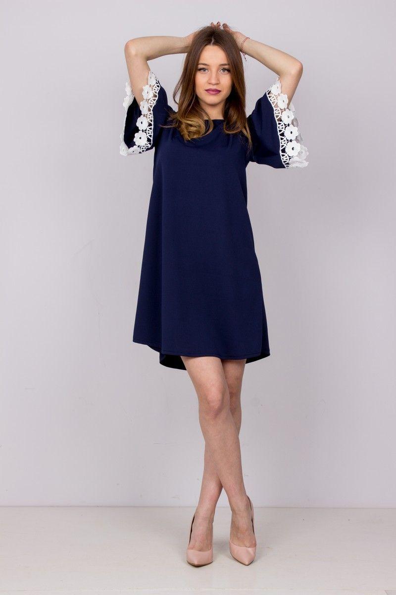 0d9483712816 Φόρεμα με δέσιμο στην πλάτη και μανίκι με κυπούρ