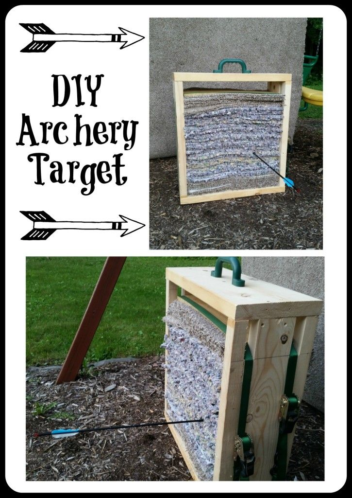 Make Your Own Archery Target Diy Mama Smith S Diy Pinterest