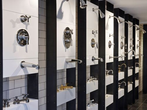 display of taps at waterworks london - Bathroom Accessories Display