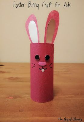 Easter Bunny Craft Kids For Toilet Paper Roll Rabbit Easy
