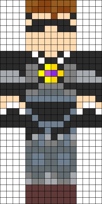Minecraft SkyDoesMinecraft skin perler bead pattern | Awesome stuff ...
