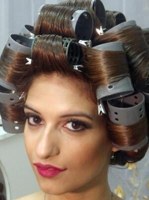 Larger curlers are always fun .. . . | wet set with ...