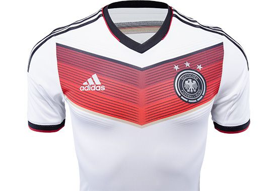 Adidas Authentic Germany Home Jersey 2014 Soccerpro Com Soccer Jersey Jersey Soccer Shirts
