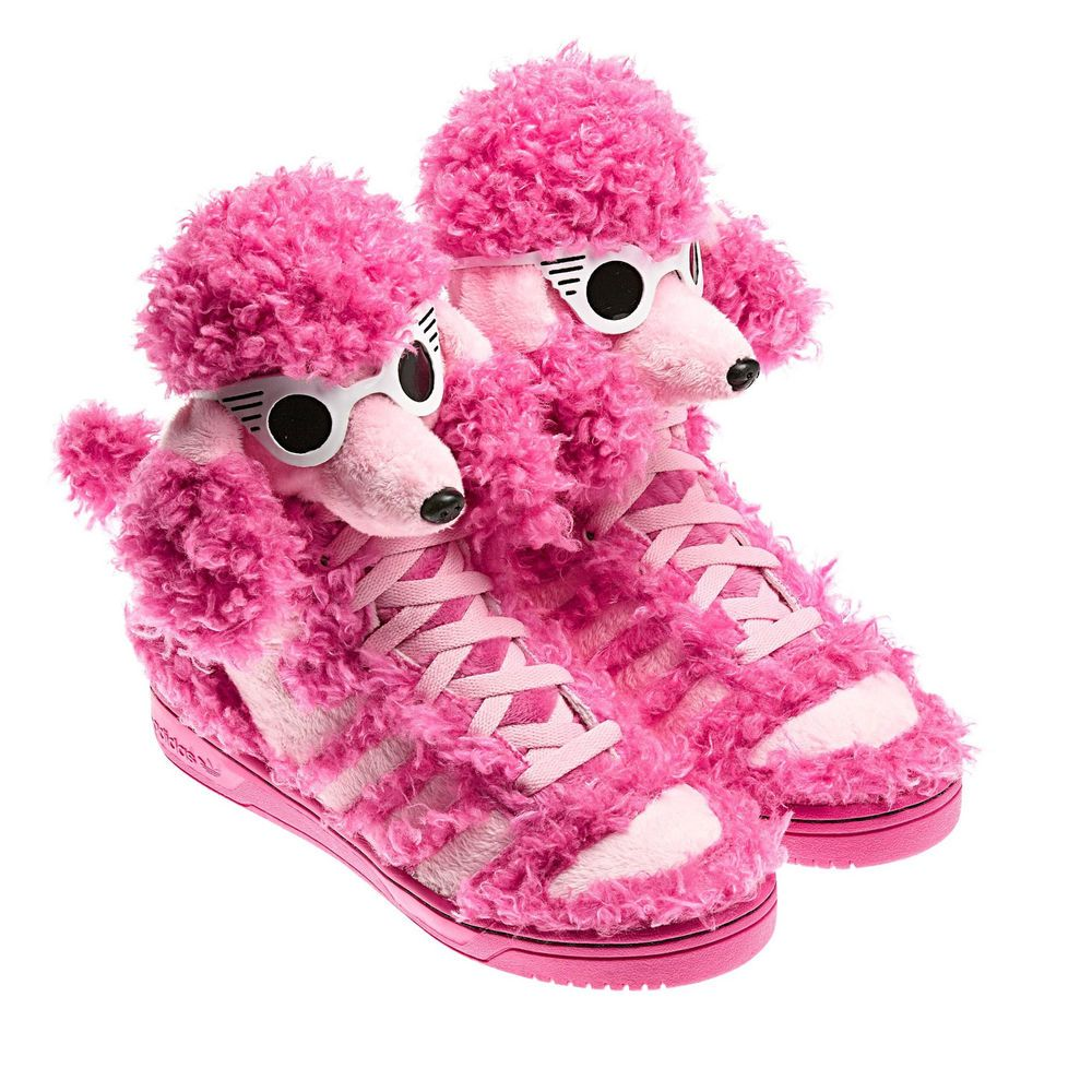 d78e1434c242 Adidas Jeremy Scott JS Shoes Sneaker Pink Poodle Bear Flag Gold Wings  7-13.5  adidas  HightopSneakers