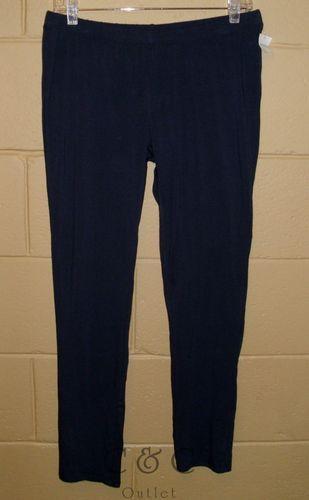 Nautica Sleepwear NEW Leggings Pajama Pants Navy Blue Stretch LARGE