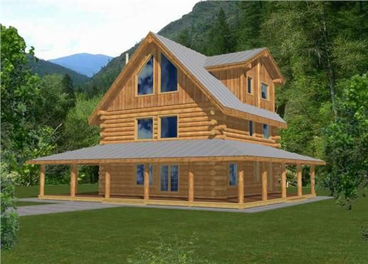 Log Houses Home Design Ghd 1048 9711 Modern Contemporary House Plans Log Cabin House Plans Rustic Houses Exterior