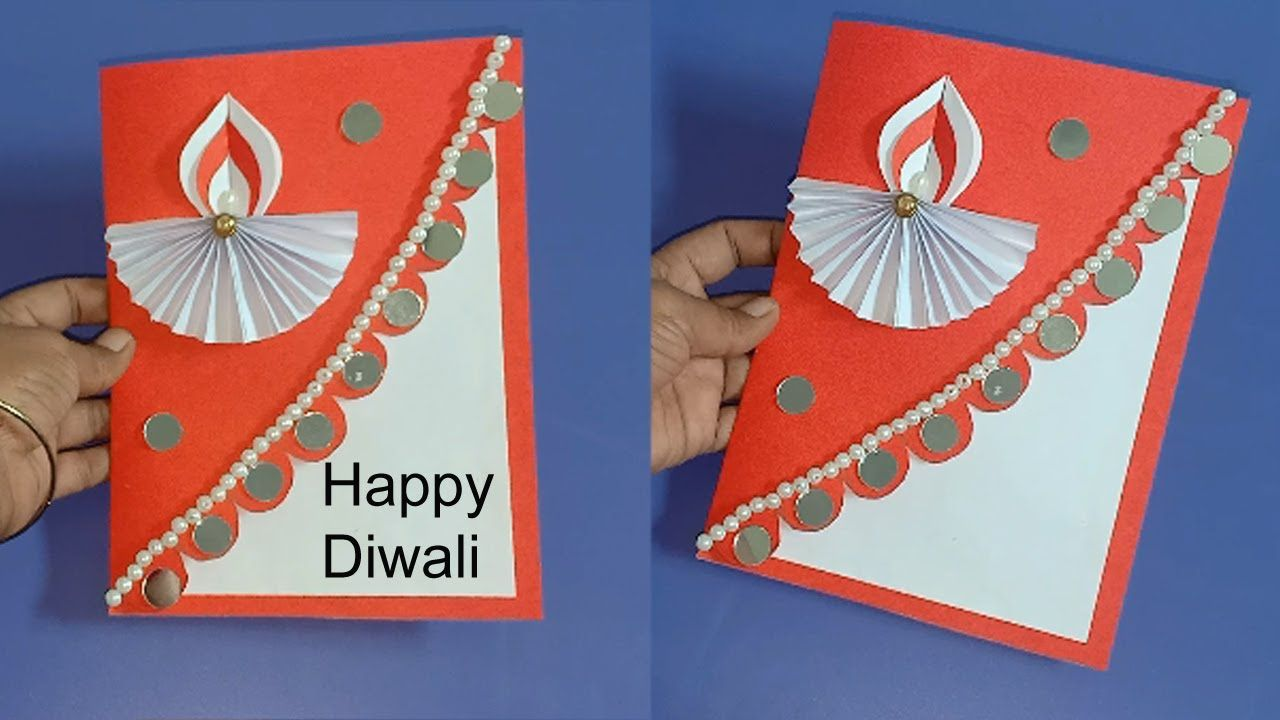 Pin By Rekha Channel On Diwali Diwali Card Making Card Making Competition Card Drawing
